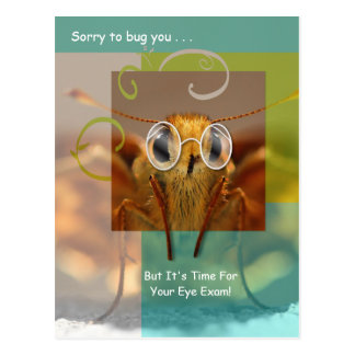 Cute Optometry Eye Exam Appointment Reminder Postcard