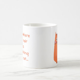 Cute Orange Cartoon Cat Home is...Text Design Coffee Mug