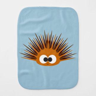 Cute Orange Sea Urchin Burp Cloth