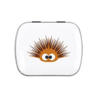 Cute Orange Sea Urchin Candy Tin
