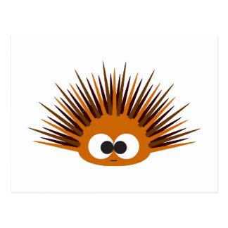 Cute Orange Sea Urchin Postcard