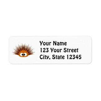 Cute Orange Sea Urchin Return Address Label