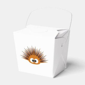 Cute Orange Sea Urchin Wedding Favour Boxes