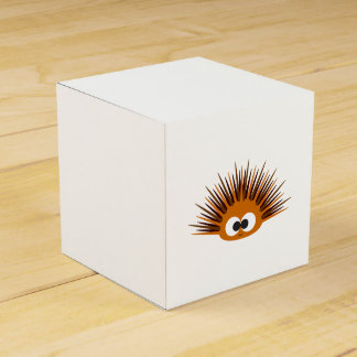Cute Orange Spiny Sea Urchin Party Favor Box