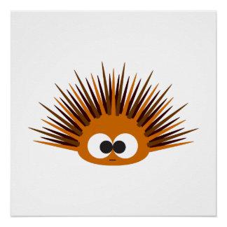 Cute Orange Spiny Sea Urchin