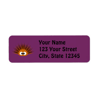 Cute Orange Spiny Sea Urchin Return Address Label
