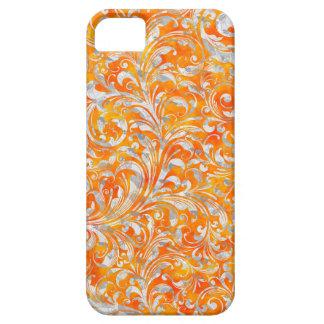 Cute orange swirl floral design case for iPhone 5/5S