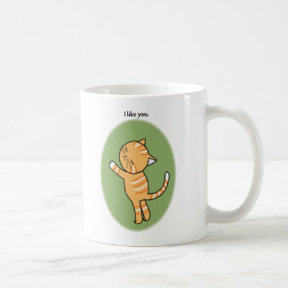 Cute Orange Tabby Cat I Like You Mug For Cat Lover