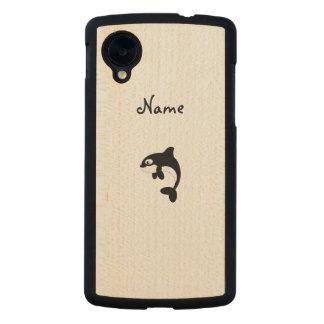 Cute orca whale carved® maple nexus 5 slim case