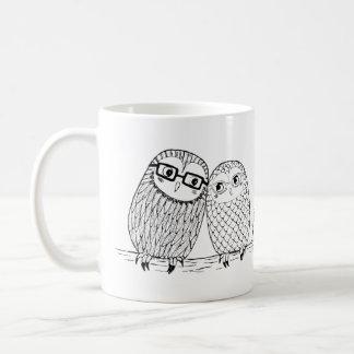 Cute Owl Couple Mug Geek Chic Owl Love Couple Mug