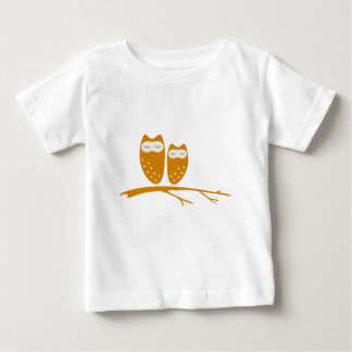 Cute owl couple with hearts shirt