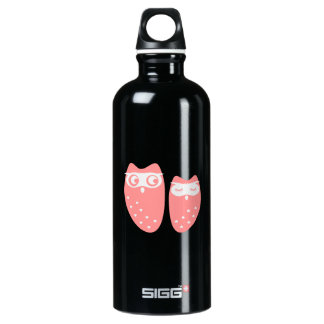 Cute owl couple with hearts SIGG traveller 0.6L water bottle