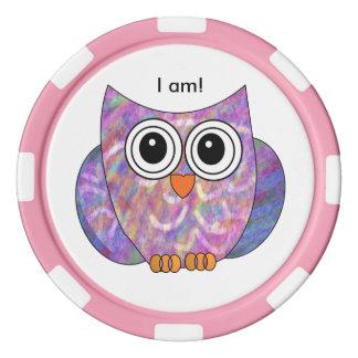 Cute Owl Poker Chips