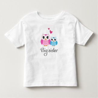 Cute owls big sister little brother cartoon tshirts