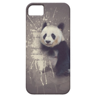 Cute Panda Abstract Barely There iPhone 5 Case