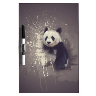 Cute Panda Abstract Dry Erase Board