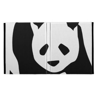 Cute Panda Bear iPad Folio Covers
