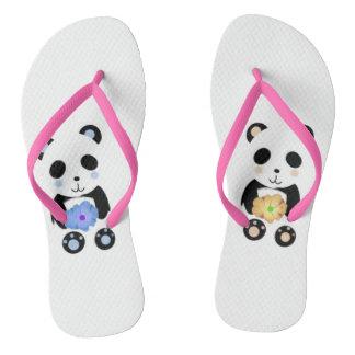 cute panda design flip flops thongs