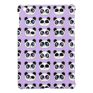 Cute Panda Expression Purple iPad Mini Covers