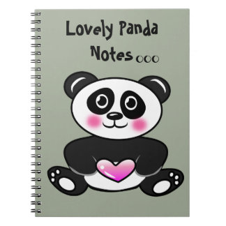 Cute Panda Photo Notebook