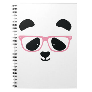 Cute Panda Pink Notebook