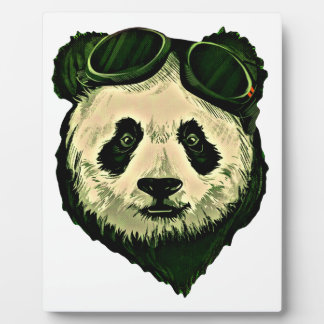 Cute Panda with Glasses Plaque