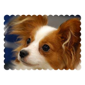 Cute Papillon Dog 5x7 Paper Invitation Card