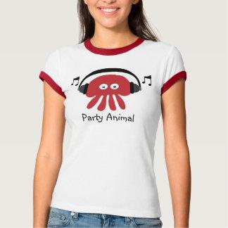 Cute Party Animal Red Jellyfish & Headphones Tshirts