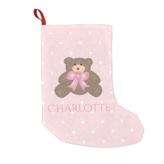 Cute Pastel Pink Ribbon Sweet Teddy Bear Baby Girl
