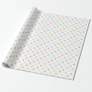 Cute Pastel Polka Dots New Baby Wrapping Paper 2