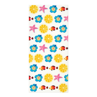 Cute pattern for kids rack card template