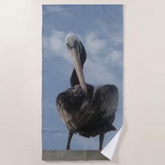 Cute Pelican from Peru Beach Towel