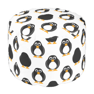 Cute Penguin Pattern Pouf