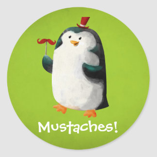 Penguins With Mustaches Galleryhipcom The Hippest