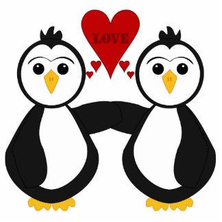 Cute Penguins Thinking Love Photo Cutouts