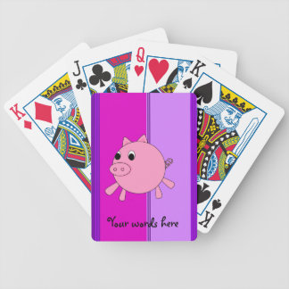 Cute pig bicycle playing cards