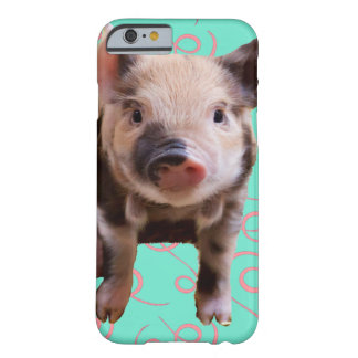 Cute Pig - Blue & Pink Swirls Barely There iPhone 6 Case