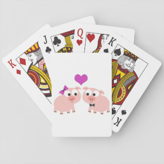 Cute Pig Love Playing Cards