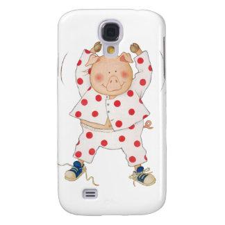 Cute Piggy Exercising Galaxy S4 Case