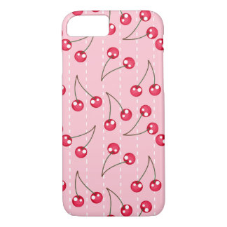 Cute Pink And Red Cherries Pattern iPhone 7 Case