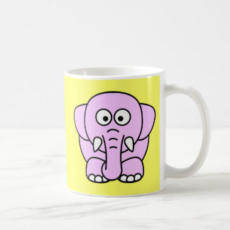 Cute pink animated little elephant mugs