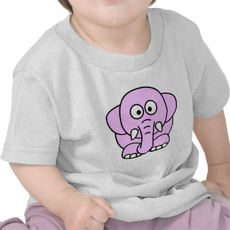 Cute pink animated little elephant tshirts
