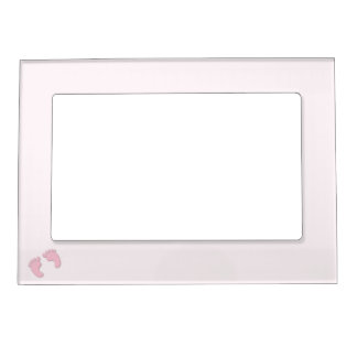 Cute pink baby feet, footprints photo frame magnetic photo frame