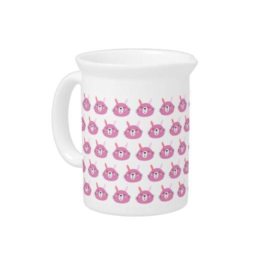 Cute Pink Bunny | Kids Birthday Pitcher
