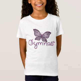 Cute Pink Butterfly Gymnast T-Shirt