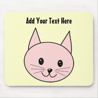 Cute Pink Cat Mouse Pad