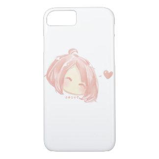 Cute Pink Chibi Face iPhone 8/7 Case