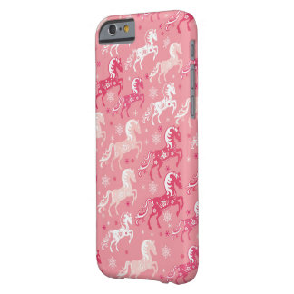 cute pink CHINEES HORSE Barely There iPhone 6 Case