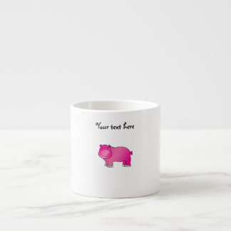 Cute pink hippo