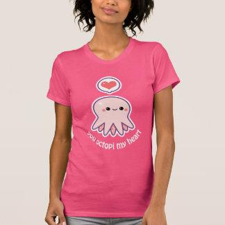 Cute Pink Octopus T-Shirt